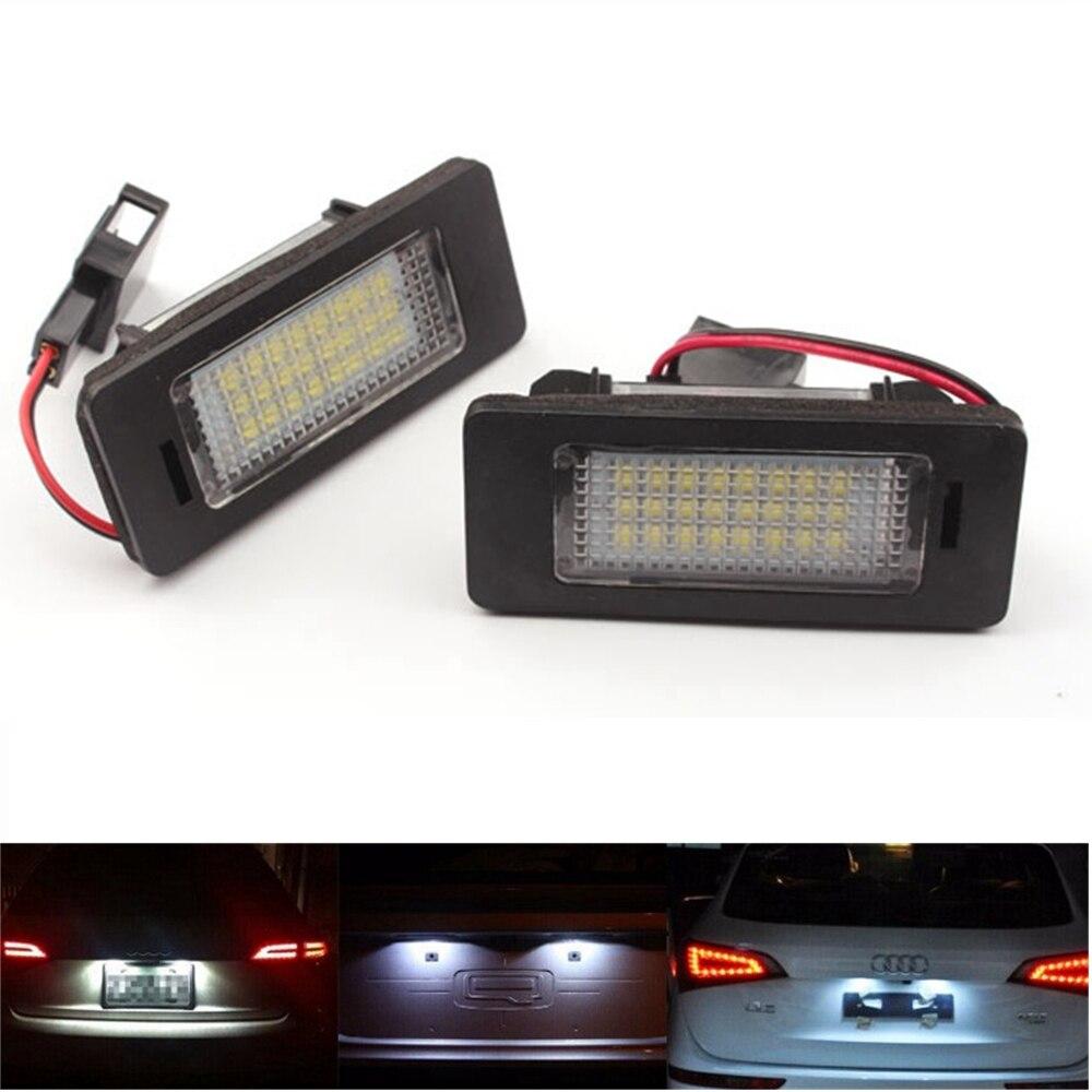 No Error LED License Plate Light For Audi A1 A5 A6 A7 VW Volkswagen Jetta Passat