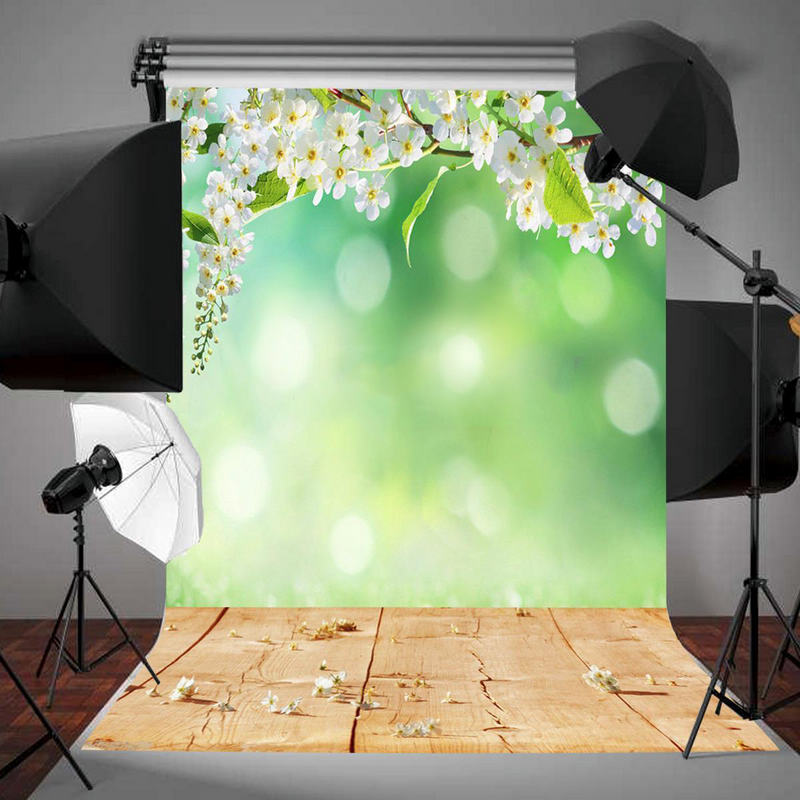 Mayitr 3x5FT Green White Flowers Scenery Photography Studio Backdrop Photo Background kate photo background scenery