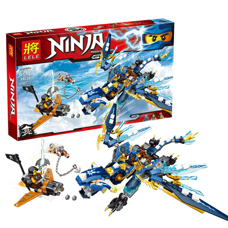 06027 Jays Elemental Dragon Ninjagoed Marvel Ninja Building Block Kits Toys figureset Compatible With lego Boys Gifts