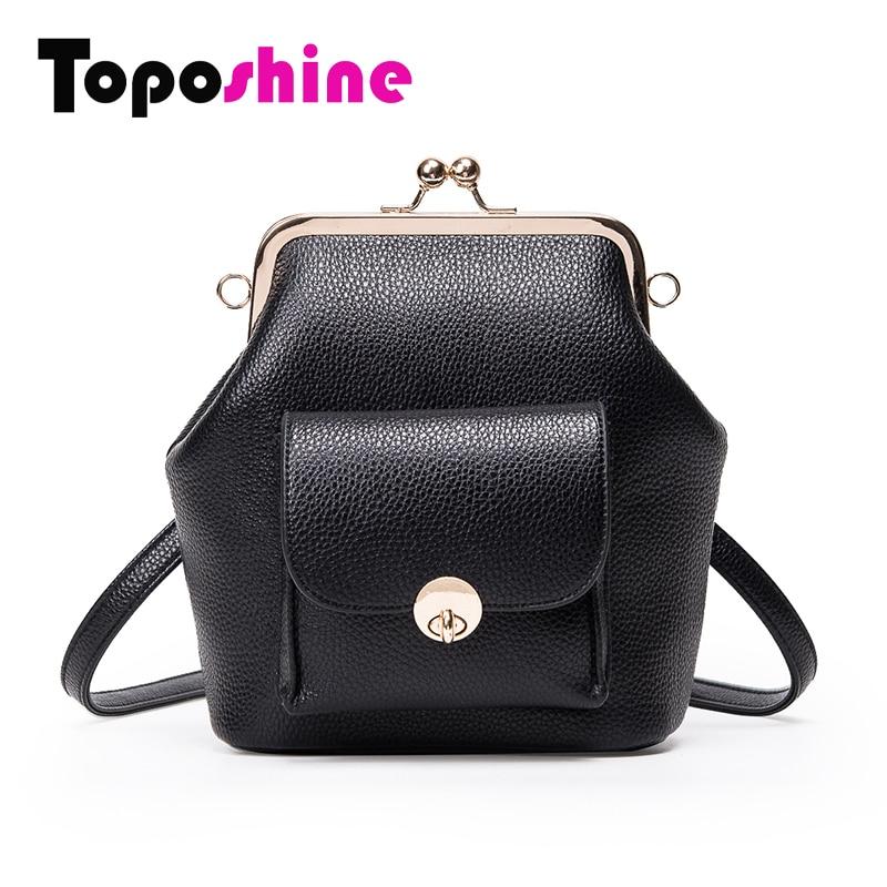 Toposhine Frame Women's Handbag Solid 4 Color Girls Messenger Bag Small Fashion