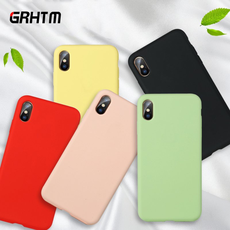 Matte Phone Case For iPhone 7 Plus 6 6s 8 X XR XS MAX Simple Solid Color Ultra thin Soft TPU Cases Candy Color Back Cover