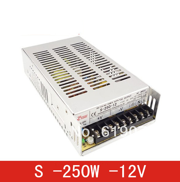 250W 12V Single Output Switching power supply for  FSDY  AC to DC led meanwell 12v 350w ul certificated nes series switching power supply 85 264v ac to 12v dc