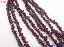 DIY Bracelet Necklace metal jewelry accessories Making 34inch Natural garnet Chips loose Beads necklace Stone necklace