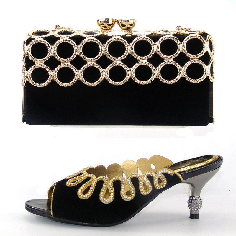 Shoe and Bag Set Fashion High African Women Matching Italian Shoe and Bag Set for Wedding Nigerian Shoe and Bag Sets  S lu1-1