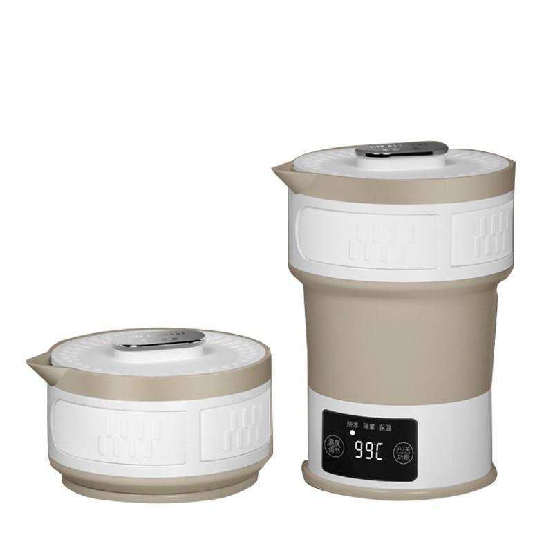 110V 240V Folding Electric Kettle Compressed Travel Water Kettle Hidden Handle Food Grade Silicone Insulation Kettle