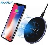 RAXFLY Qi Cargador Inalámbrico Para el iphone Plus 8X5 V 2A Rápidamente de carga Para Samsung S6 S7 S8 Plus Nota 8 Cargador Inalámbrico Pad