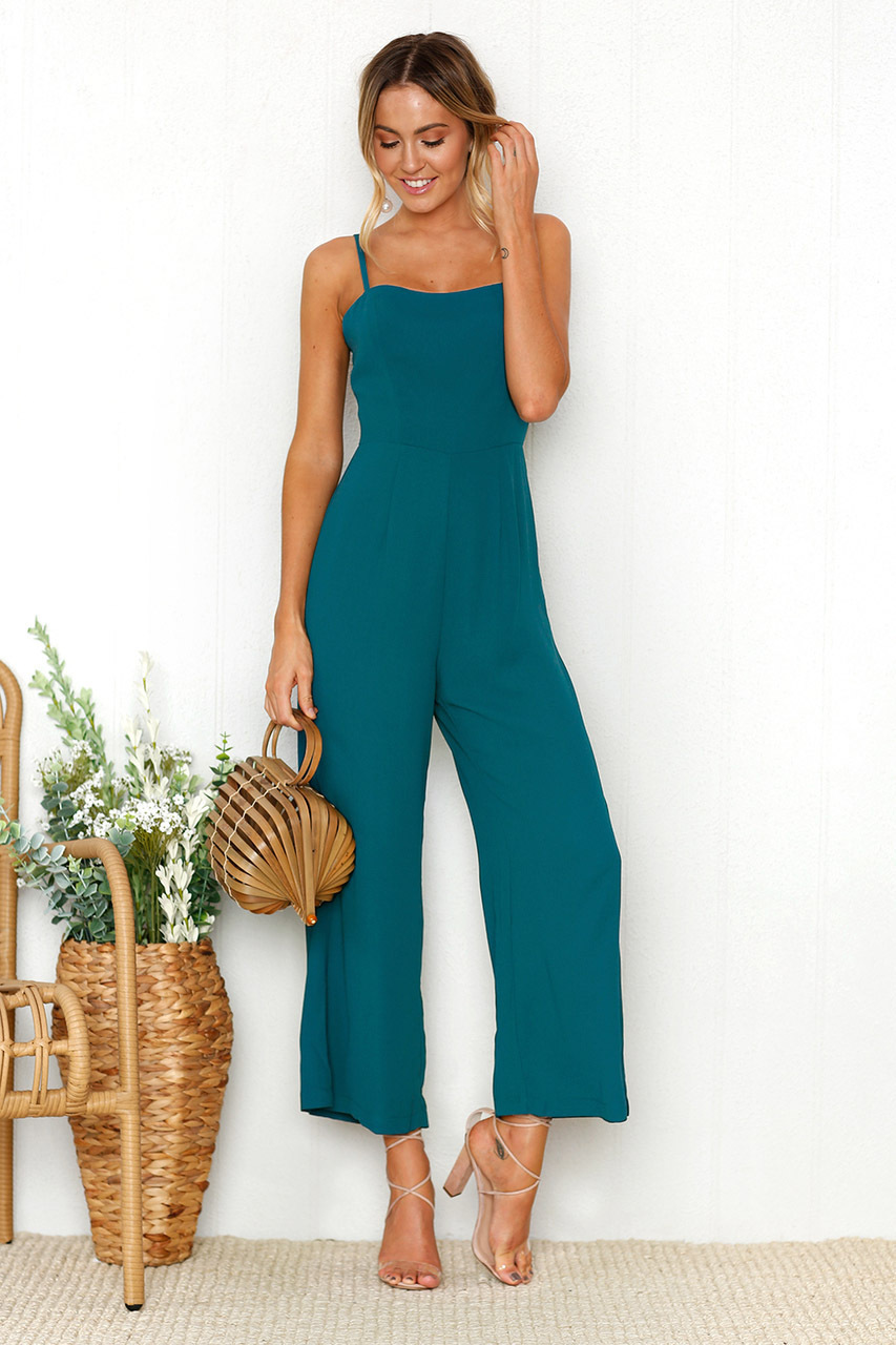 Menbone 2018 Ankle Length Women Jumpsuits Slash Neck Spring Summer Casual Jumpsuit Female Sexy ...