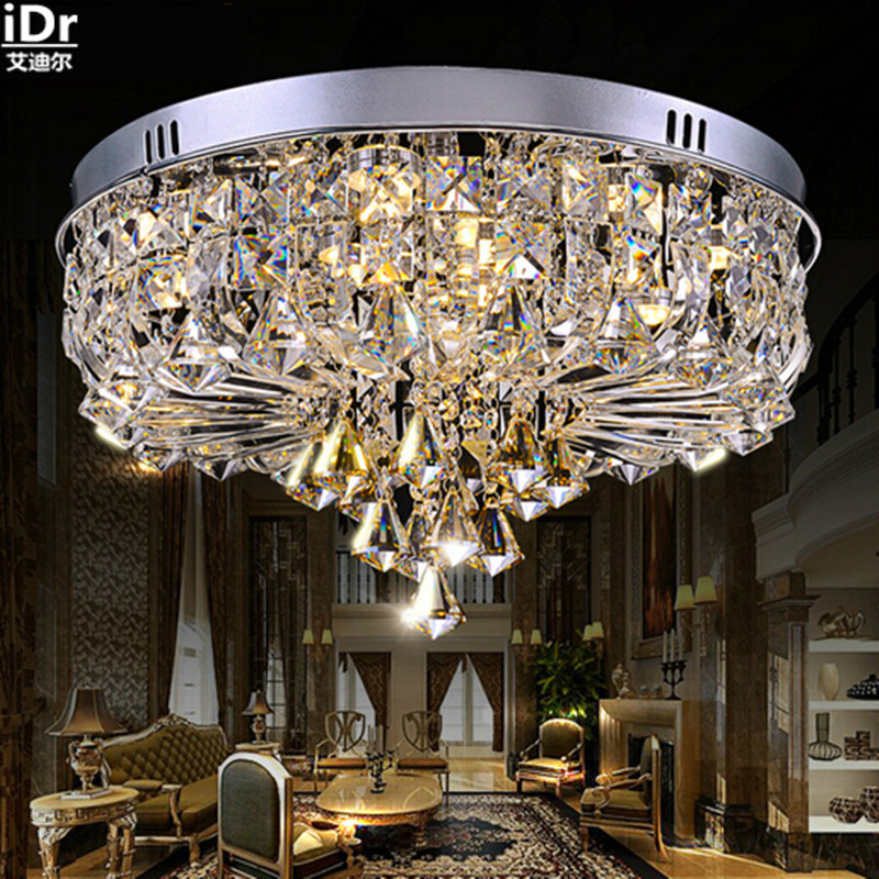 Factory wholesale luxury high-end lighting fixtures wholesale crystal led modern living room Ceiling Lights Rmy-090
