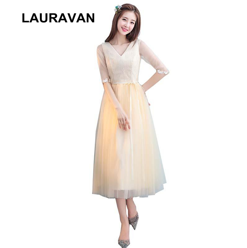 robe de soiree champagne princess for adults half sleeved lace prom dress cheap girls womens modest short dresses ball gown