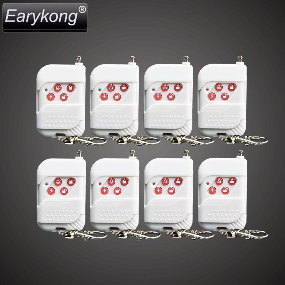 imágenes para Envío libre Nuevo sensor de alarma de la seguridad Casera 8 unids Blanco inalámbrico de control remoto para 433 mhz alarma GSM de Alta calidad sistema