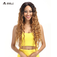 Noble Hair Products Lace Front Wigs 30 Inch Long Wavy Dark Root Synthetic Wigs For