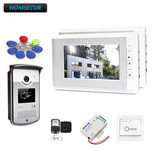HOMSECUR 7inch Wired Video Door Entry Phone Call System with Intra-monitor Audio IntercomHOMSECUR 7inch Wired Video Door Entry Phone Call System with Intra-monitor Audio Intercom