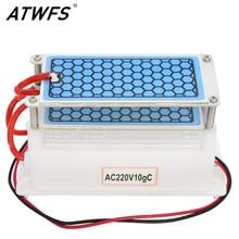 ATWFS Beweglicher Ozon-generator 220 V/110 V 10g Doppel Blatt Keramikplatte Integrierte Ozon-generator Wasser Luft ozonisator