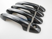 Carbon Fiber Color Door Handle Cover Trim Overlay Panel Car Styling 2014 2015 2016 2017 2018 For Toyota RAV4 Accessories