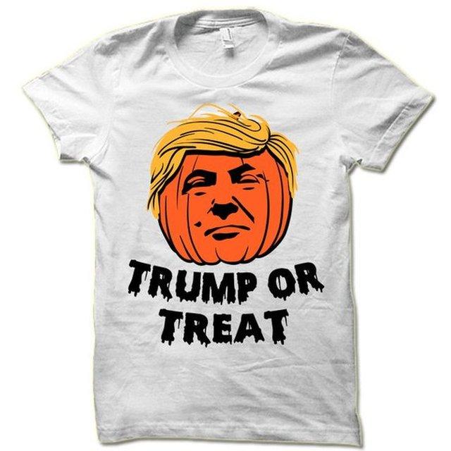 donald trump or treat halloween t shirt funny halloween gift unisex halloween tops