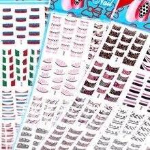 Аксессуары для ногтей, французские наклейки для ногтей, 12 Дизайнов/Лот, 3D наклейки для ногтей, французские наклейки на ногти французский стикер s