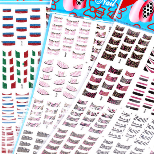 Nail Supplies Nail French Sticker Assorted 12 designs/lot  3D Nails Sticker French Tip Nail Stickers French Tip Stickers платье french connection french connection fr003ewhuq37