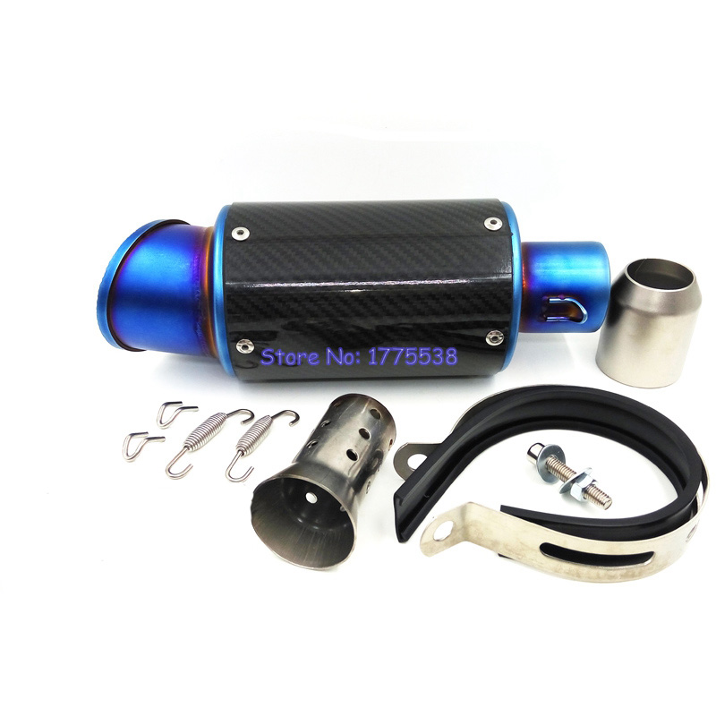 2 inch Inlet Universal Carbon Fiber Motorcycle Exhaust Pipe Escape with Removable DB Killer