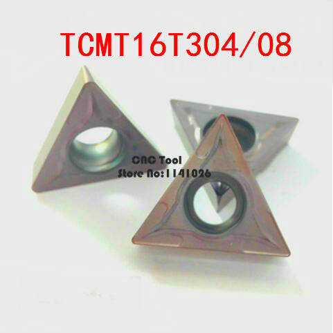 10PCS TCMT16T304/TCMT16T308 Carbide CNC Inserts,CNC Lathe Tool,apply To Stainless Steel And Steel Processing, Insert STFCR/STGCR
