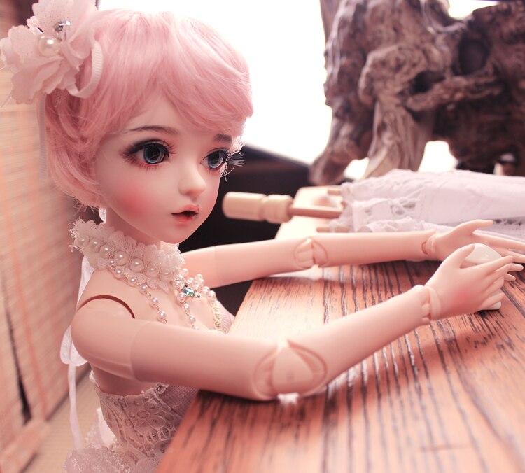 BJD 1/3 balle articulée poupée cadeaux pour fille peint à la main maquillage fullset Lolita/princesse poupée avec des vêtements MAN-YU - 2