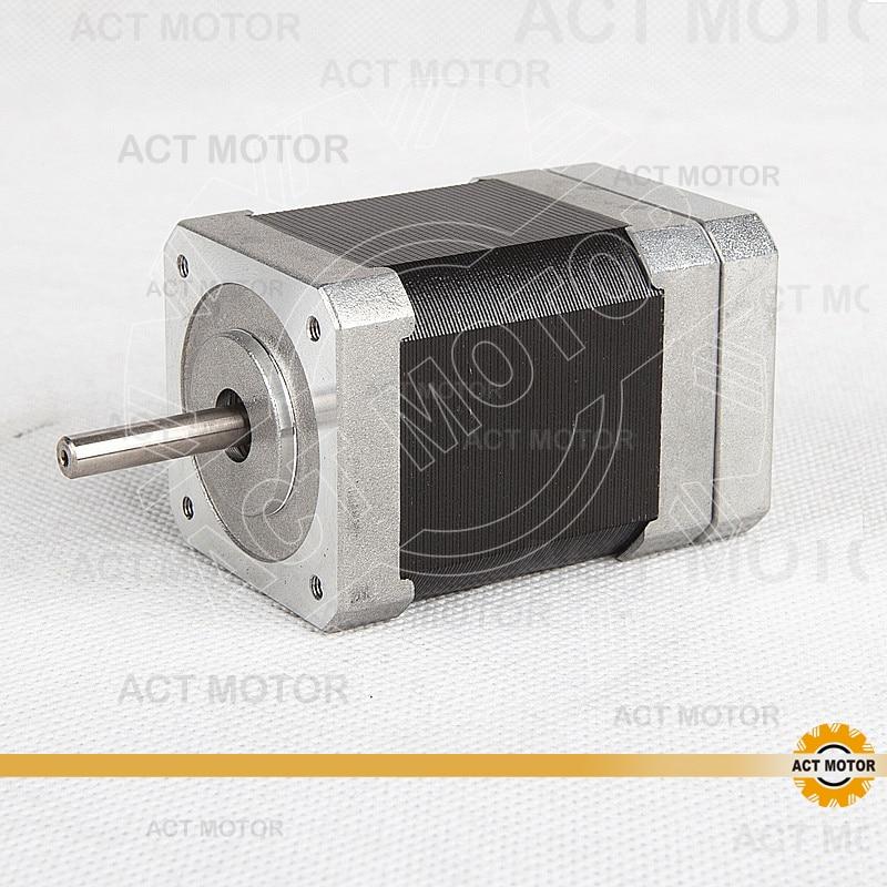 ACT Motor Nema17 Brushless DC Motor 42BLF02 24V 52W 4000RPM 3Phase  Single Shaft CNC Router Milling Cut Engraving high quality cnc wantai nema17 brushless dc motor 42blf02 24v 52w 4000micro router milling laser plasma