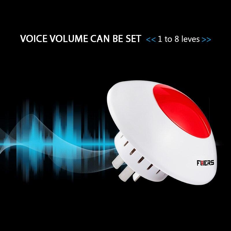 Fuers alarma inalámbrica sirena Flash cuerno luz roja estroboscópica sirena 433 Mhz traje para sistema de alarma KERUI