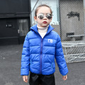 2016 Boys Parka Childen Winter Jackets for Girls Turn-Down Collar Down Jackets Coats Warm Kids Baby Solid Cotton Down Jacket