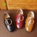 JRQIOT Новые 2017 Весна детские Небольшой Shoes Девушки Принцесса Shoes Случайные Peas Shoes Прилив Мальчиков Круглый Пряжки Shoes