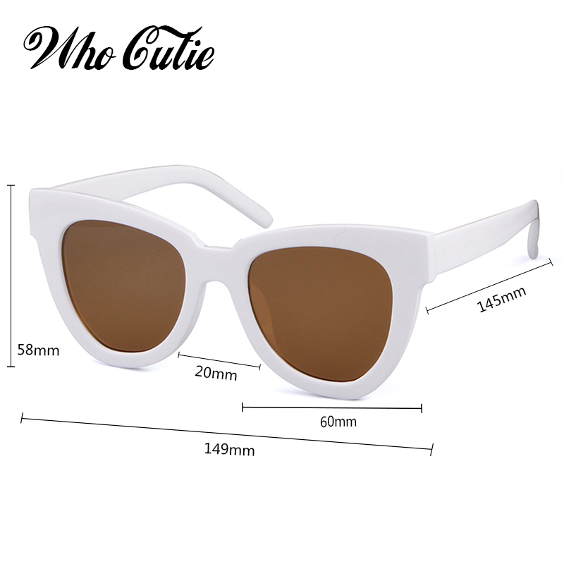 eb03a5b72435 WHO CUTIE 2018 Oversized Cat Eye Sunglasses Women Brand Designer Vintage  Sunnies Tortoise shell Cateye Sun Glasses Shades OM752-in Sunglasses from  Women's ...