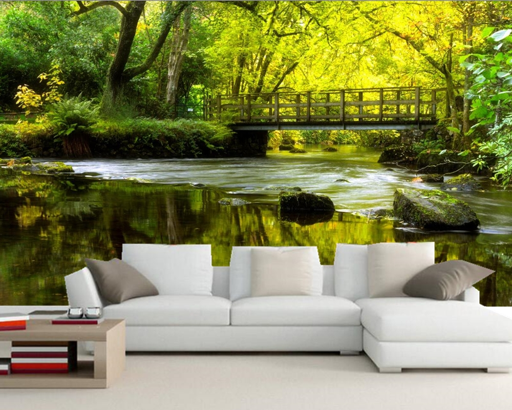 papel de parede,Rivers Bridges Stones Moss Nature photo wallpaper,restaurant bar living room tv wall bedroom custom murals custom 3d mountains sunrises and sunsets forest trees rays of light nature papel de parede living room tv wall bedroom wallpaper