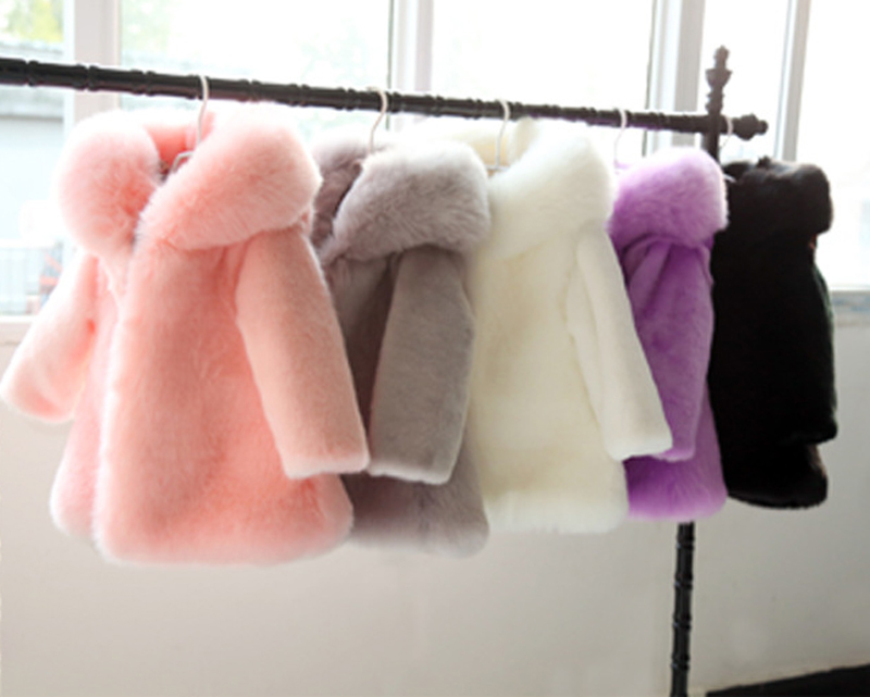 2-10Y Winter kids faux fur Hood coats Jacket long sleeve Warm Christmas birthday Girl fur Coat parka for teenage Kids Clothes shein faux fur trim hood drawstring detail parka coat winter coats ladies pink long sleeve zipper hooded womens coat