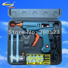 5 pcs/set, free shipping, tool kit: USA plug With power switch 100 watt hot melt glue gun