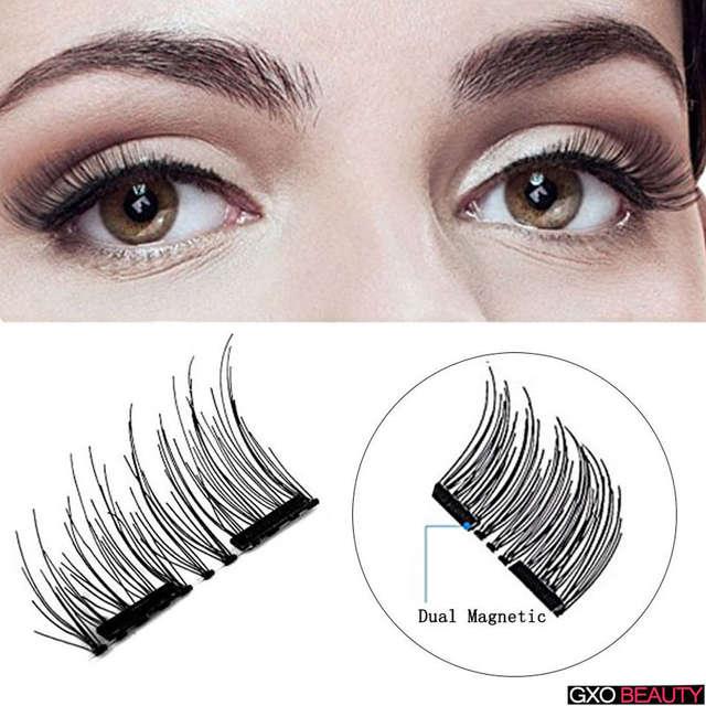 f107b6f5dc8 Online Shop GXO BEAUTY 1Pairs Magnetic Eyelashes Natural Soft Eye Lashes  Makeup Handmade Thick Fake False Eyelashes Make Up Beauty Tools    Aliexpress Mobile