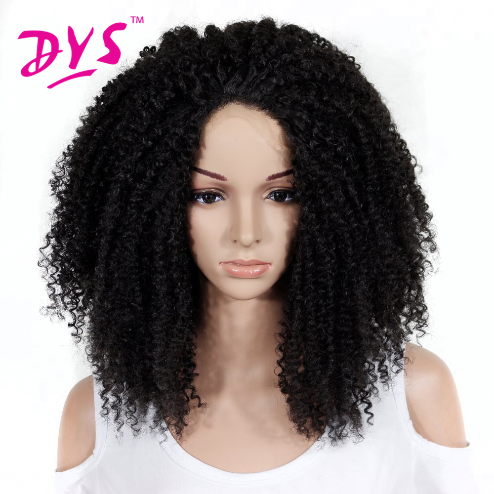 Deyngs Long Afro Kinky Curly Synthetic Lace Front Wigs For ...