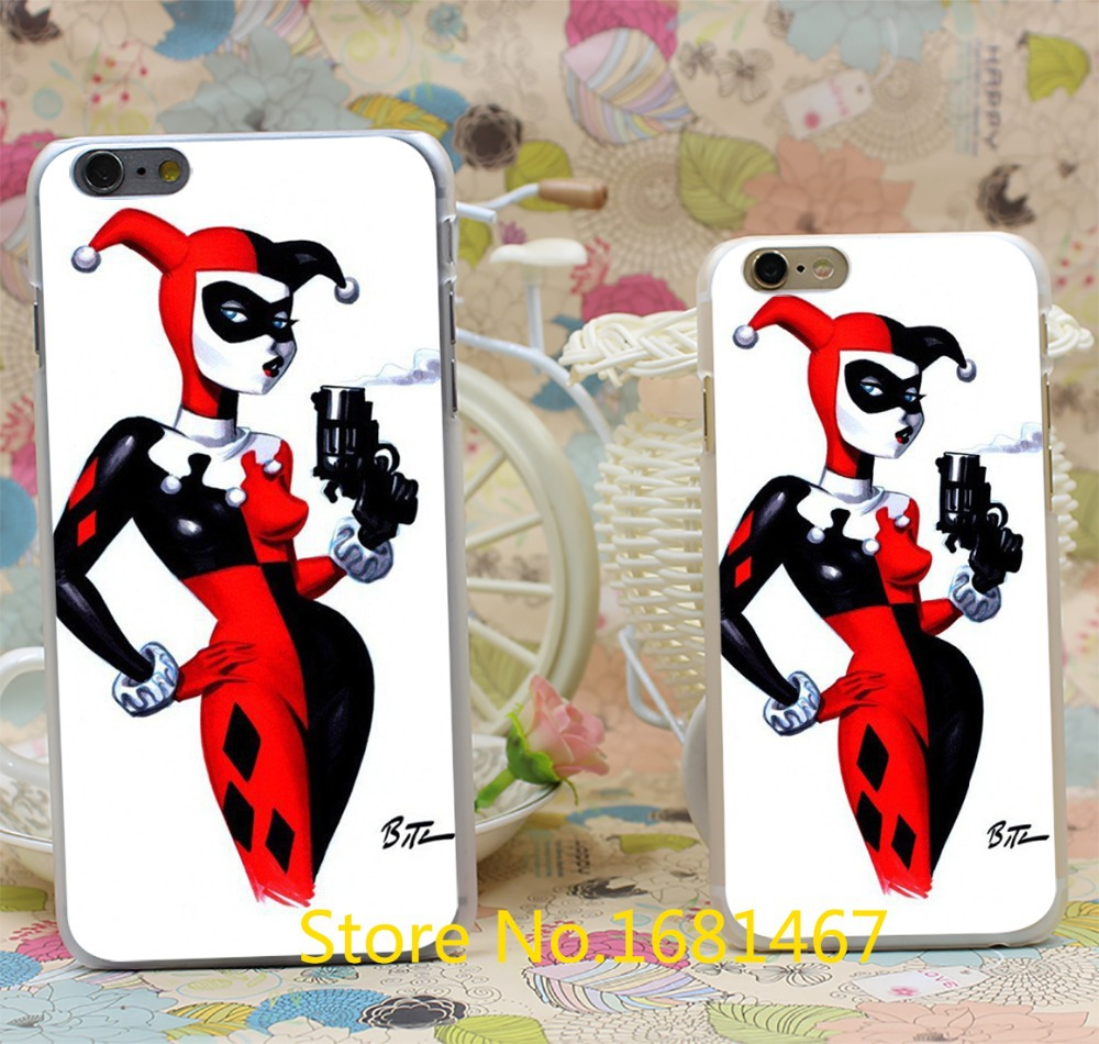 Marvel Comics Joker And Harley Quinn Batman Transparent Hard Style For iPhone 7 7 Plus 6 6s 6g 6+ 6 plus Clear Cover New arrival