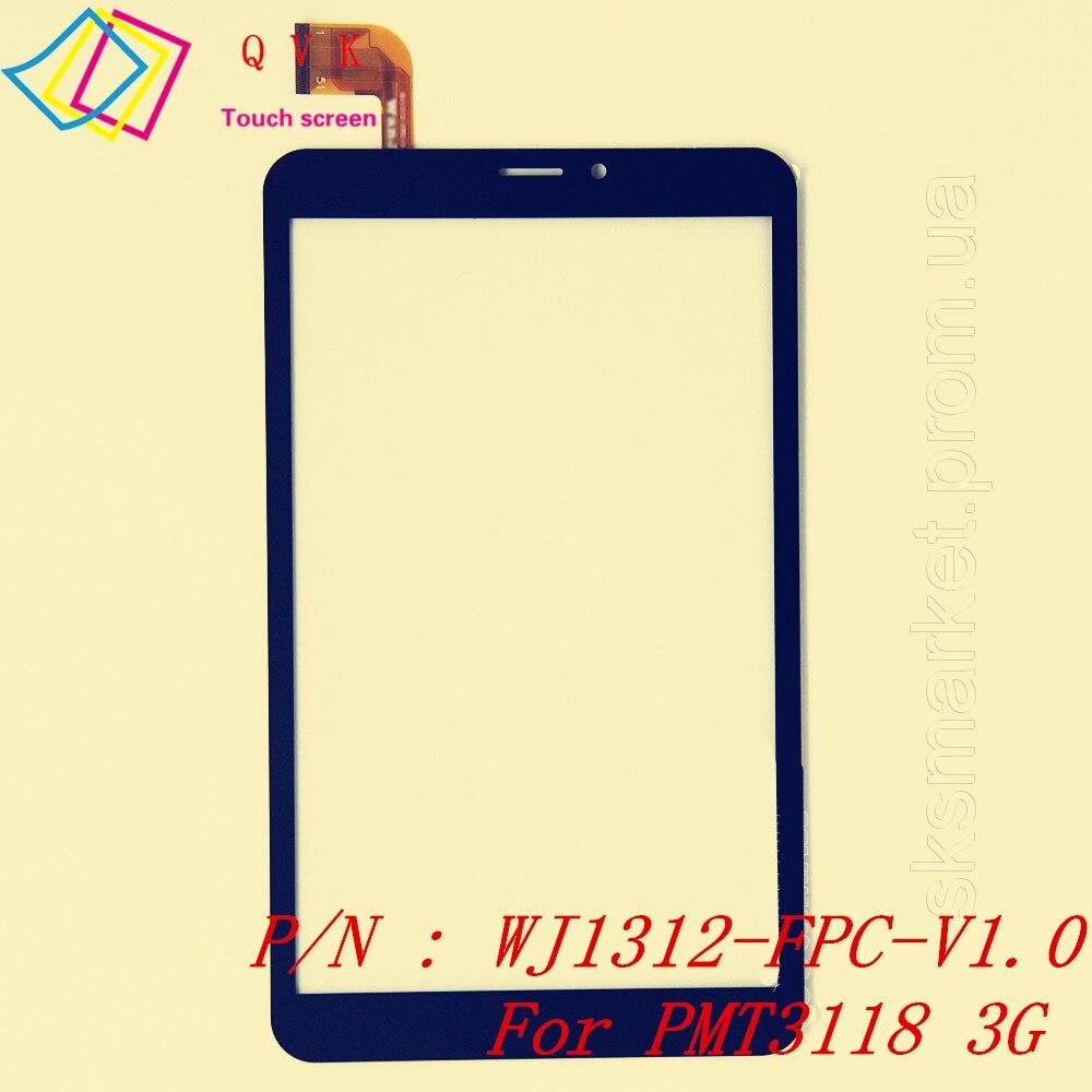 Bilgisayar ve Ofis'ten Tablet LCD'ler ve Paneller'de Siyah 8 inç Prestigio Grace 3118 PMT3118 3G tablet pc kapasitif dokunmatik ekran cam sayısallaştırma paneli P/N WJ1312 FPC V1.0 title=
