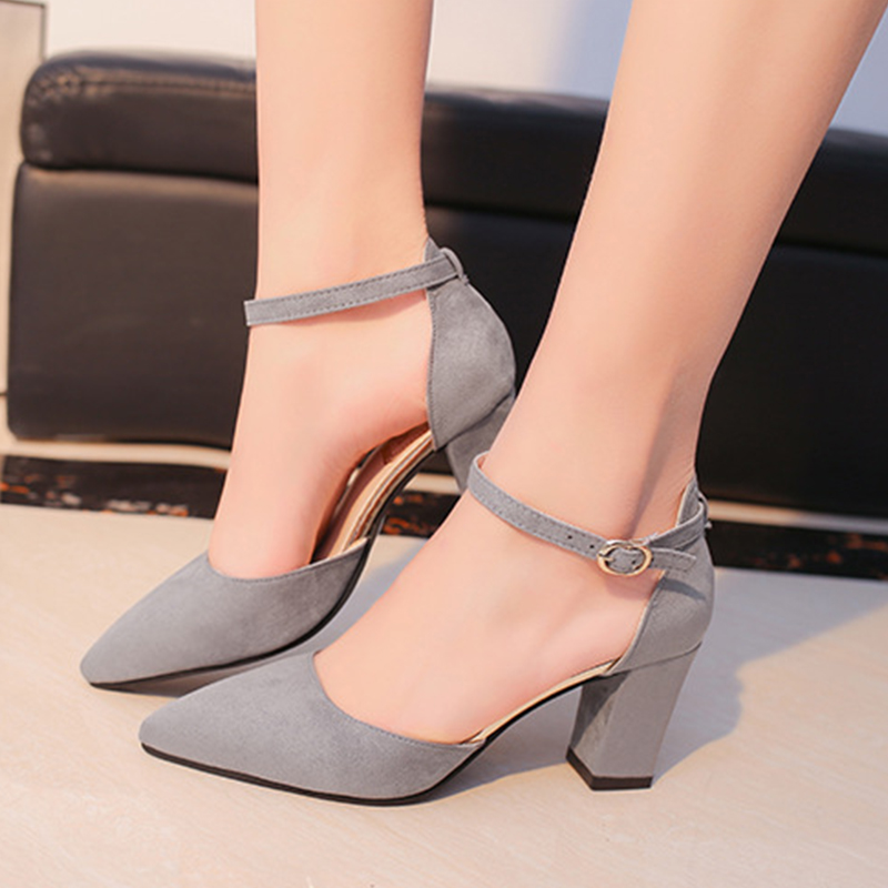 2018 Summer Women Shoes Sandals Fashion Pointed Toe Pumps High Heels Boat Shoes Wedding Casual Solid Ladies Heels Shoes DBT746 memunia flock pointed toe ladies summer high heels shoes fashion buckle color mixing women pumps elegant lady prom shoes