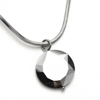 Engrave Word & Picture Love Heart Tungsten Carbide Neckalce & Pendants with Steel Chain Men's Cool Jewelry TU014P