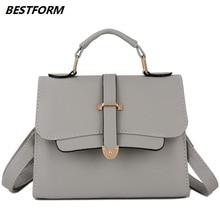 BESTFORM New Design Female Bag Handbag Ladies Phone Pocket Women Shoulder Bag Leather Elegant Ladies Crossbody Bags Fashion Tote цена 2017