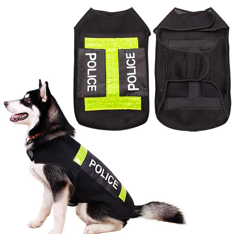 Large Dog Police Safety Save Life Jacket Reflective Vest Pet Dog Preserver Coat Clothes Pets Supplies Hogard