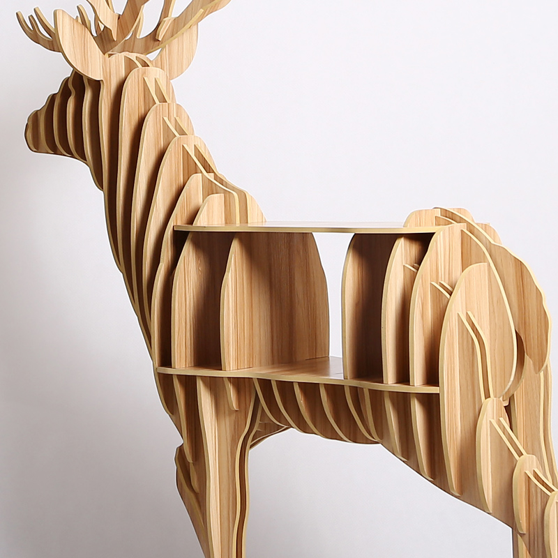 130 150 47cm Wooden Deer Table Teapoy End Table For Art Home Office     130 150 47cm Wooden Deer Table Teapoy End Table For Art Home Office Bar  Decoration Christmas Elk Table Large Bookshelf TM008M in Statues    Sculptures from