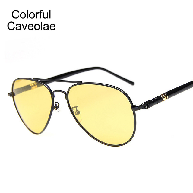 349d75306ab € 9.37  Colorido Caveolae Hombres gafas de Sol de Moda Marca  Antideslumbrante UV400 Gafas Casuales Masculinas Polarizadas de Conducción  Gafas Para ...