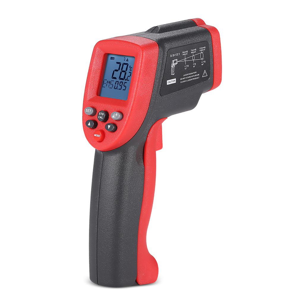 Meterk MK900 12:1 Multifunctional Non-contact Digital LCD IR Infrared Thermometer Temperature Tester Pyrometer with Backlight