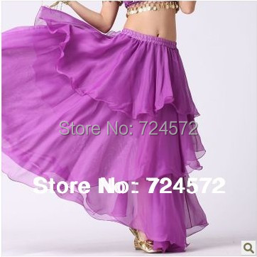 Belly dance dancing wear clothes chiffon 3 rows cake chiffon skirt match skirt belly dance stage skirt