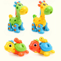 DIY разборка сборка Милые Животные Жираф рыбы модель строительные блоки игрушки Ранние развивающие игрушки для Для детей Подарки