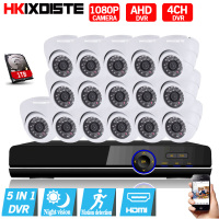 16CH 1080P AHD DVR Kit With 24Pcs Leds 2M IR NightVision Mini CCTV 2MP Indoor Dome