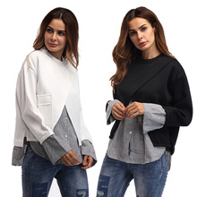 Womens Tops 2017 font b New b font Arrival Blouses Femenina Solid Top Line Fashion Long