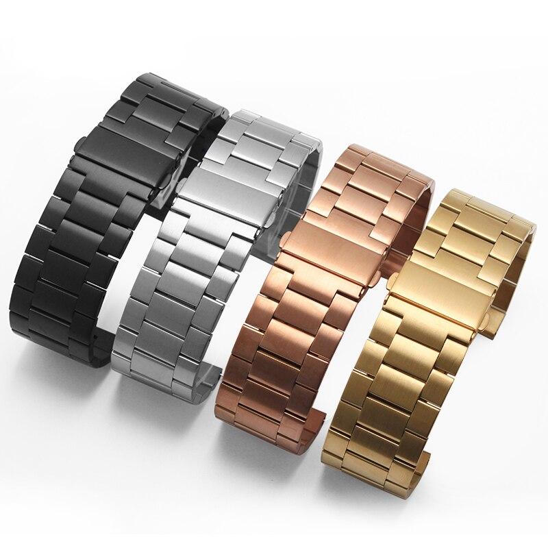 df4a66854def 2016 nueva llegada reloj 26mm alta calidad pulsera de acero inoxidable  Correa banda de reloj para Garmin Fenix 3