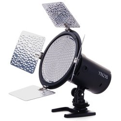 YONGNUO YN216 YN-216 LED Video Camera Light with Adjustable 3200K-5500K Color Temperature 4 Color Plates for Canon Nikon DSLR