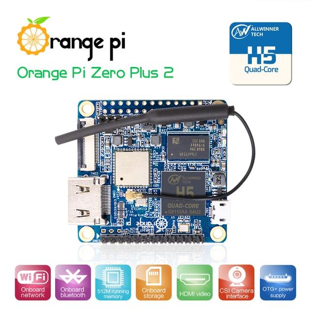 Oranje Pi Nul Plus2 H5 Quad Core, Ondersteuning Wifi/Bt/Camera/Hdmi Mini Pc Board